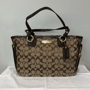 Coach Signature Gallery East West Jacquard Tote